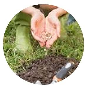 alfombrilla de ratón Mujer que planta en un campo - ronda - 20cm