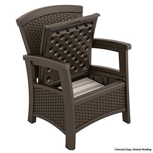 Amazon.com : Suncast ELEMENTS Club Chair With Storage, Java : Garden U0026  Outdoor