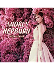 Audrey Hepburn Calendar 2022: Squared Monthly Calendar Mini Planner 12 Months 2022 bonus September to December 2021 , Actress Celebrity Official