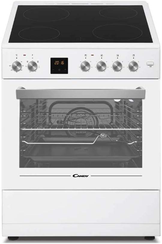 Candy CVE660MW_E - Cocina libre instalación 60cms, encimera vitro 4 zonas y horno eléctrico 60L, clase A, color blanco: Amazon.es: Grandes electrodomésticos