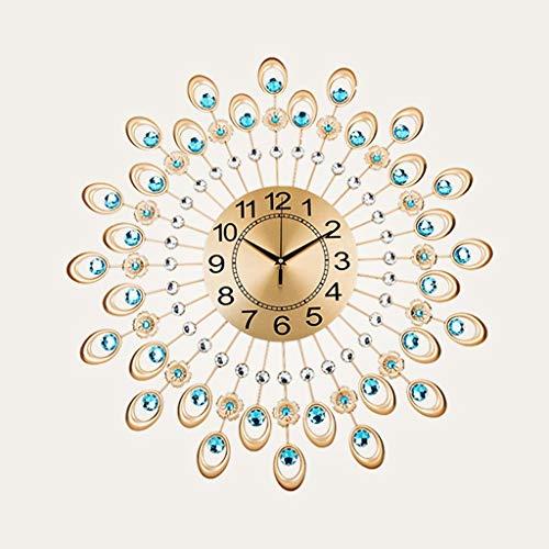 (Home Decoration Creative Personality Wall Clock WL Iron Diamond Pendants, Creative Simple Fashion Personality Quartz Mute Wall Clocks (Color : A, Size : Diameter60cm),Fashion Home Accessories)