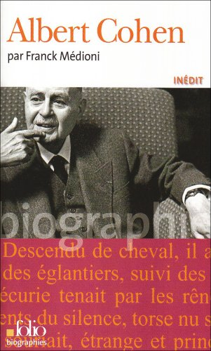 Albert Cohen (Folio Biographies) (French Edition)