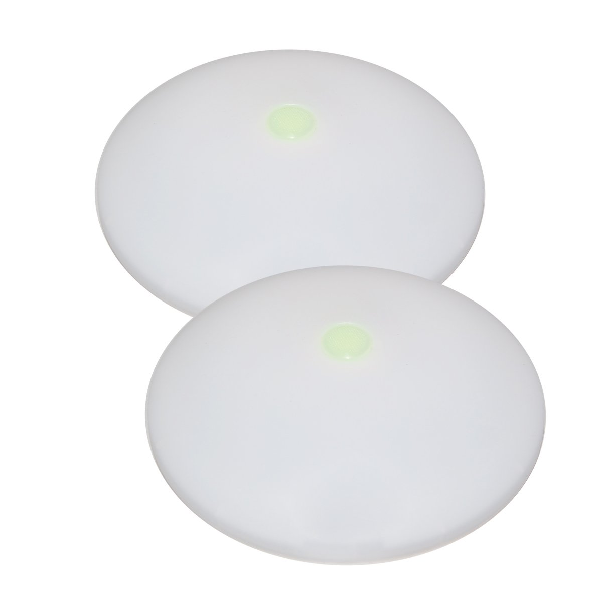 Dream Lighting 2X Plafoniera a LED con Interruttore 12v Auto Camper Barca Soffitto 114MM Tondo Lampada Bianco Caldo