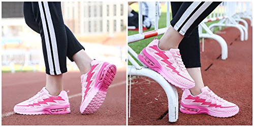 Sneakers Chaussure Fitness Running Cheville Baskets Homme à de Rose la Air 34 MIMIYAYA Baskets Sport Course Femme 44EU Gym de Sports Baskets Y6U7wIq