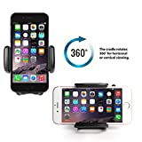"""Jarv Premium Flexible Air Vent Car Holder for Apple iPhone 10 X 8 7 6S Plus Samsung Galaxy S 9 S8 S7 Plus, Note 9 8 (all 4-6.3"""" ) Cell Phones w/Cushioned Car Swivel Mount"""