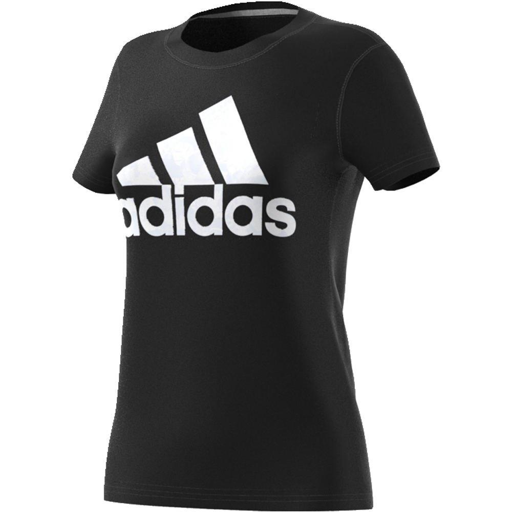 adidas Women's Badge of Sport Classic Graphic Tee, Black/White, Medium by adidas
