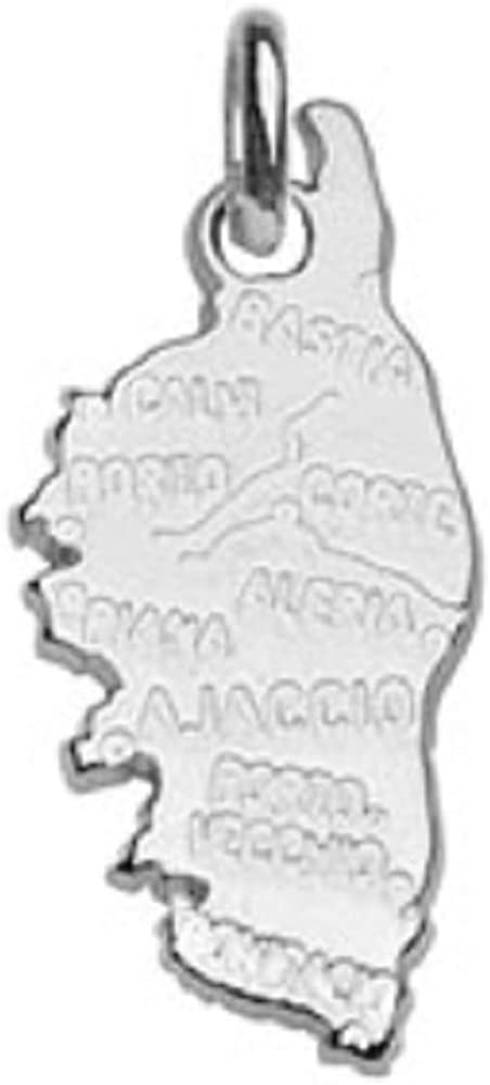 Helios Bijoux 2gr Neuf Pendentif Pays Carte Corse Argent Massif 925/°/°/° Rhodi/é