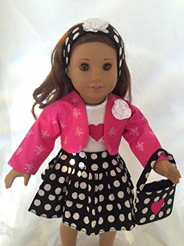 人形clothes- 5 Piece Polka 5 Dot Outfit for 人形clothes- 18インチ人形Including Dot theアメリカンガール B00YQW9PYA, 上野アメ横 靴店 フットモンキー:64c9067e --- arvoreazul.com.br