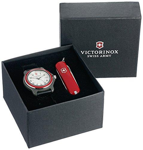 Victorinox Men's 249088.1 Original Analog Display Swiss Quartz Black Watch Set (Best Swiss Made Watches Under 2000)