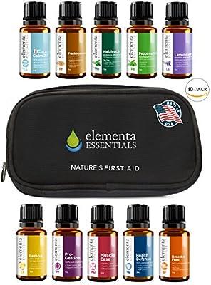 Elementa Essential Oils Set, 15ml, 10 Pack