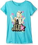 Nickelodeon Big Girls' Jo Siwa Portrait Picture Short Sleeve T-Shirt, Tahiti Blue, M-8/10