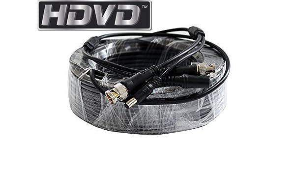 HDVD Premade pies CCTV Cable Coaxial RG59 siameses Cable combinado para conectar HD-SDI HD-TVI HD-CVI analógico sistema de cámara AHD 720P/1080P con ...