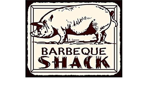 Custom Rustic Distressed Wood Sign ENS1001811 BBQ Shack Best Ribs In Town