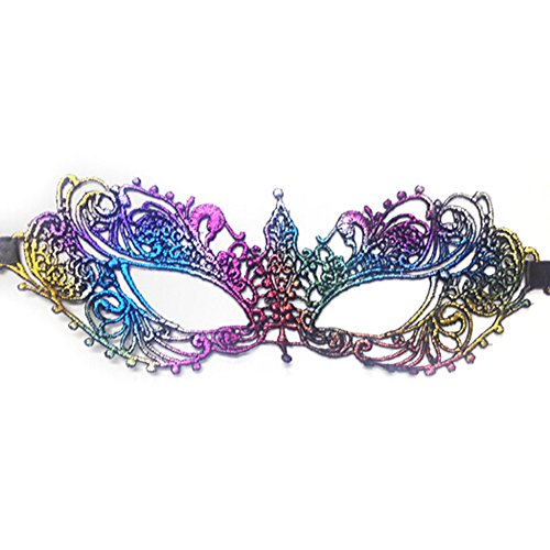 Bkpearl Lace Eye Mask Sexy Eyemask Women Make Up Mysterious Mask for Halloween Carnival Masquerade Party (Peacock Makeup Ideas Halloween)