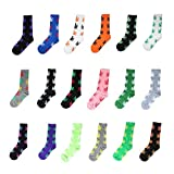 FOME 5 Pair Unisex Marijuana Weed Leaf Cotton Long Boat Warm Socks Color Varies (Long)+ FOME GIFT