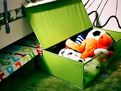 Caja de almacenaje debajo de la cama de Ikea con tapa politainer/23 x 58