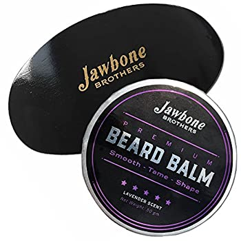 Lavender Men's Beard Balm + Beard Brush Hand Crafted Wooden made with 100% Natural Boar Bristles