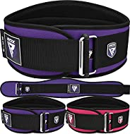 """RDX Women Weight Lifting Belt 6"""" Curved Padded Back Lumbar Support, Functional Fitness Strength Training, Core"""
