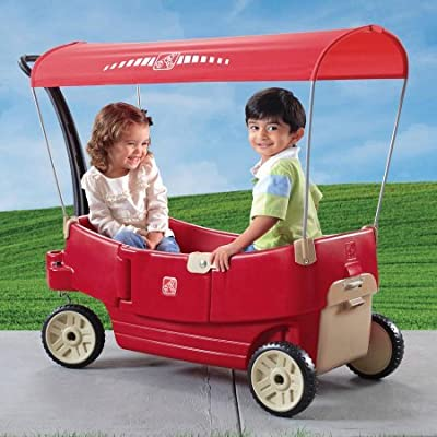 Step2 All Around Canopy Wagon, Red | Computers