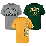 MLB Youth Boys 8-20 Oakland A's 3Piece Tee Set, Xl(18), Assorted