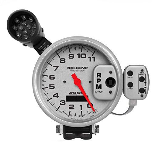 Auto Meter 6834 Pro Stock Silver Tachometer