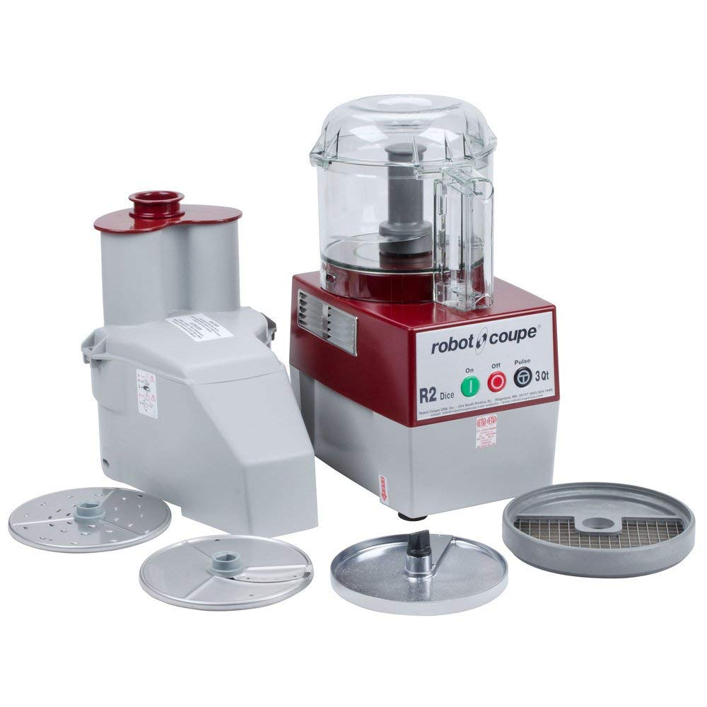Robot Coupe R2 DICE CLR Combination Food Processor, 3-Liter Bowl, Polycarbonate, Clear, 120v