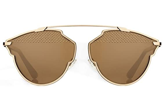8d1715c84e Amazon.com  Dior So Real Sunglasses 59 mm Gold Brown  Clothing