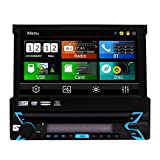 New Arrive Universal Wince Head Unit Single Din Car Stereo GPS Navigation 7 inch Capacitive Touch Screen DVD Player In Dash Detachable Panel Autoradio Support Navi/USB/SD/Cam-in/Bluetooth/FM/AM RDS