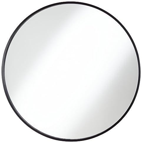 wall mirror clipart. junia matte black 34u0026quot round wall mirror clipart l