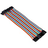 Aukru 40x 20cm Female to Female Dupont Jumper Wires Cable for Arduino Raspberry Pi