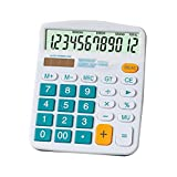 Kennedy Cute Cartoon Colorful 12 Digit Calculator With Large Button For Office & Home Use(blue)