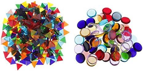 三角形モザイクタイル ラウンドモザイクタイル DIY フォトフレーム装飾 約260G