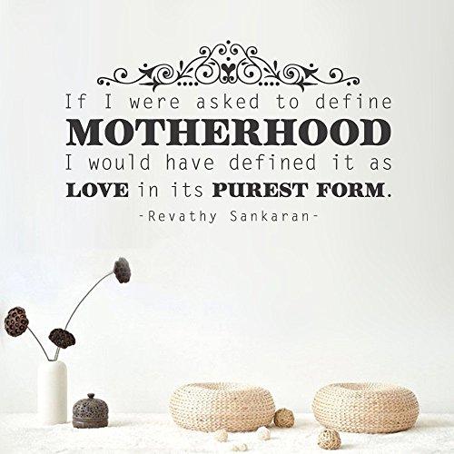 Motherhood Mural - peics Vinyl Wall Decal Quote Stickers Home Decoration Wall Art Mural Motherhood