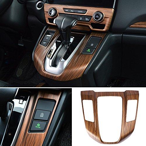 Saihisday Fits Honda CRV CR-V 2017 2018 Peach Wood Grain Inner Gear Shift Panel Cover (Inner Kick Panel)