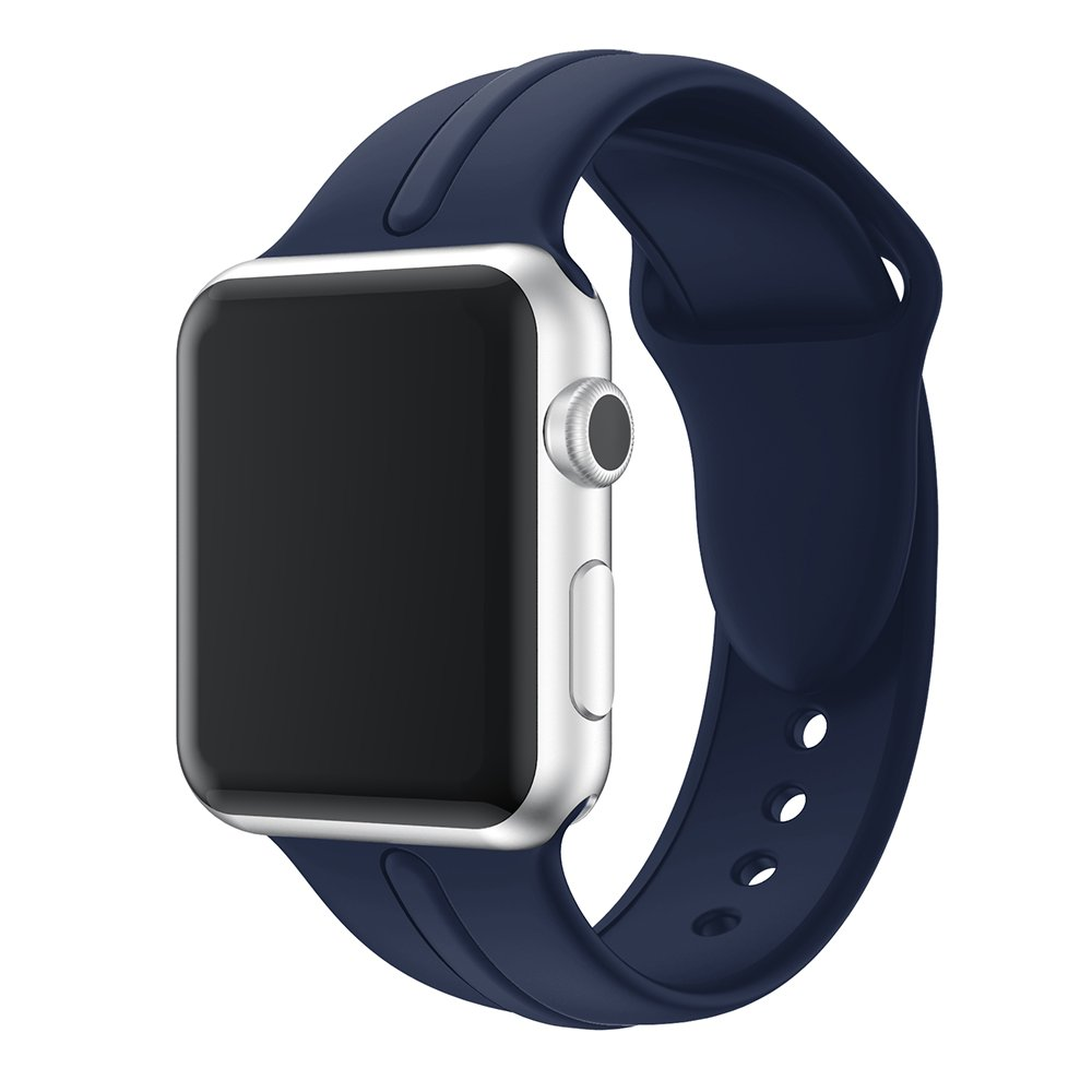 スポーツウォッチバンドfor Apple Watchシリーズ1 2015 andシリーズ2 2016バージョンシリコン手首ブレスレット交換用時計ストラップ38 mm 42 mm 42mm ダークブルー(Midnight Blue) ダークブルー(Midnight Blue) 42mm B074SXMFD5