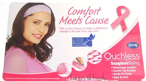 Goody Ouchless Pink Cushion Styling Hair Brush for Thick Hair #88169