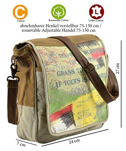 Sunsa Damen Herren Tasche Messengertasche Umhängetasche Schultertasche aus Canvas