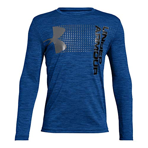 Under Armour Boys' Crossfade Long Sleeve Shirt, Royal (400)/Graphite, Youth Large