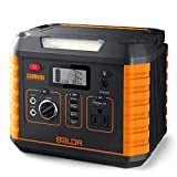 BALDR Portable Power Station 330W, 2019 Updated Portable Solar Generators for home use, CPAP Backup Battery with QC3.0&TypeC SOS Flashlight and Wireless Charger for Outdoor Camping Travel Emergency