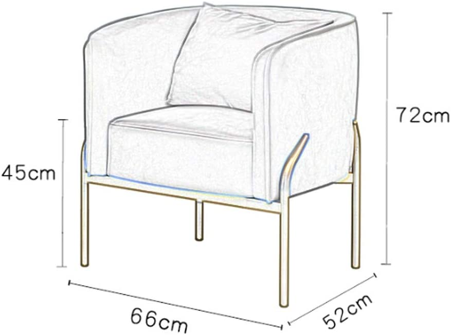 Color : Pink CHQYY Single armchair-breathable soft bedroom living room balcony chair
