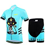 CSP18 Design Bicycle Cycling Jersey Short Sleeves Set For Children Boys Girls (M)