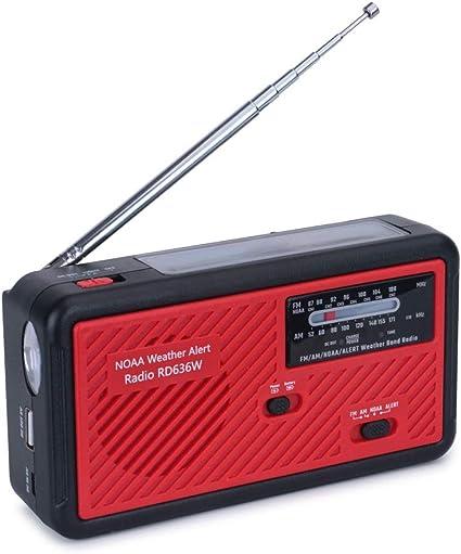 Portable Emergency Hand Crank Self Powered AM//FM NOAA Solar Weather Radio Useful