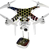 MightySkins Protective Vinyl Skin Decal for DJI Phantom 3 Professional Quadcopter Drone wrap cover sticker skins Primary Honeycomb