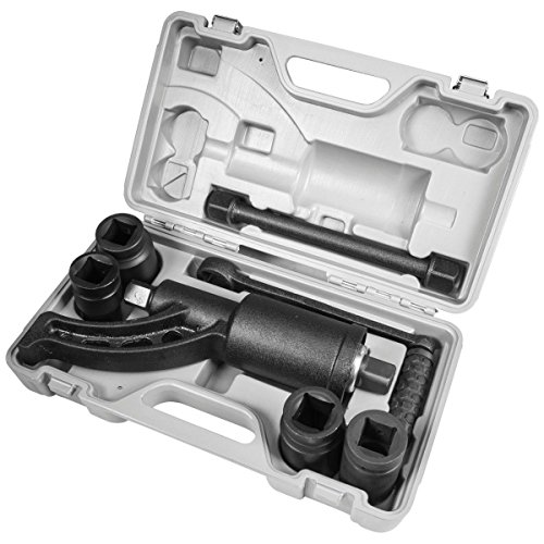 XtremepowerUS Multiplier Torque Wrench Labor Saving Lug Nut Wrench Cr-v Socket (Torque Wrench W/ 4 Socket) + Case