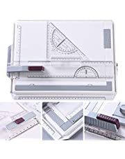 A4 Drawing Board Set, Adjustable Angle Drafting Tables with T-Shaped Square Rulers/Triangular Board/Angle Ruler, Multi-Function Drawing Board Tool for Student Engineer Architect