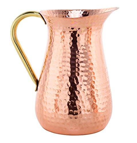 Handmade Copper Jug, Pure Copper Pitcher, 100% Copper - 1.5 (Water Pitcher Copper)