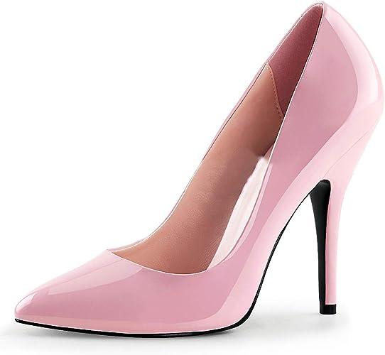 SALE /% Elegante High Heels Pumps Pink Lack Pleaser USA Damenpumps Gr 37