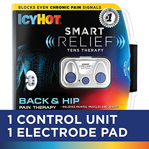 Icy Hot Smart Relief TENS Therapy, Back and Hip Starter Kit, Includes Portable Wire-Free TENS Unit, Battery, Reusable Electrode Pad for Hips and Back, TENS Therapy Can Offer Relief for Chronic Pain