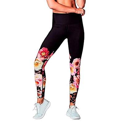 Moonuy Mode Legging Sport Femme Pantalon Yoga avec Poche Taille Haute  Amincissant Legging Pantalon Longue Amincissant 73f425d075c