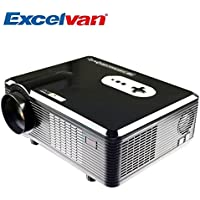 Lightinthebox 3000 Lumens CL720 3000 Lumens HD Home Theater Multimedia LCD Projector 1080 HDMI/Analog TV/VGA/AV 1280 x 800 Pixels with Analog TV Interface for Home Entertainment(Black US Plug)
